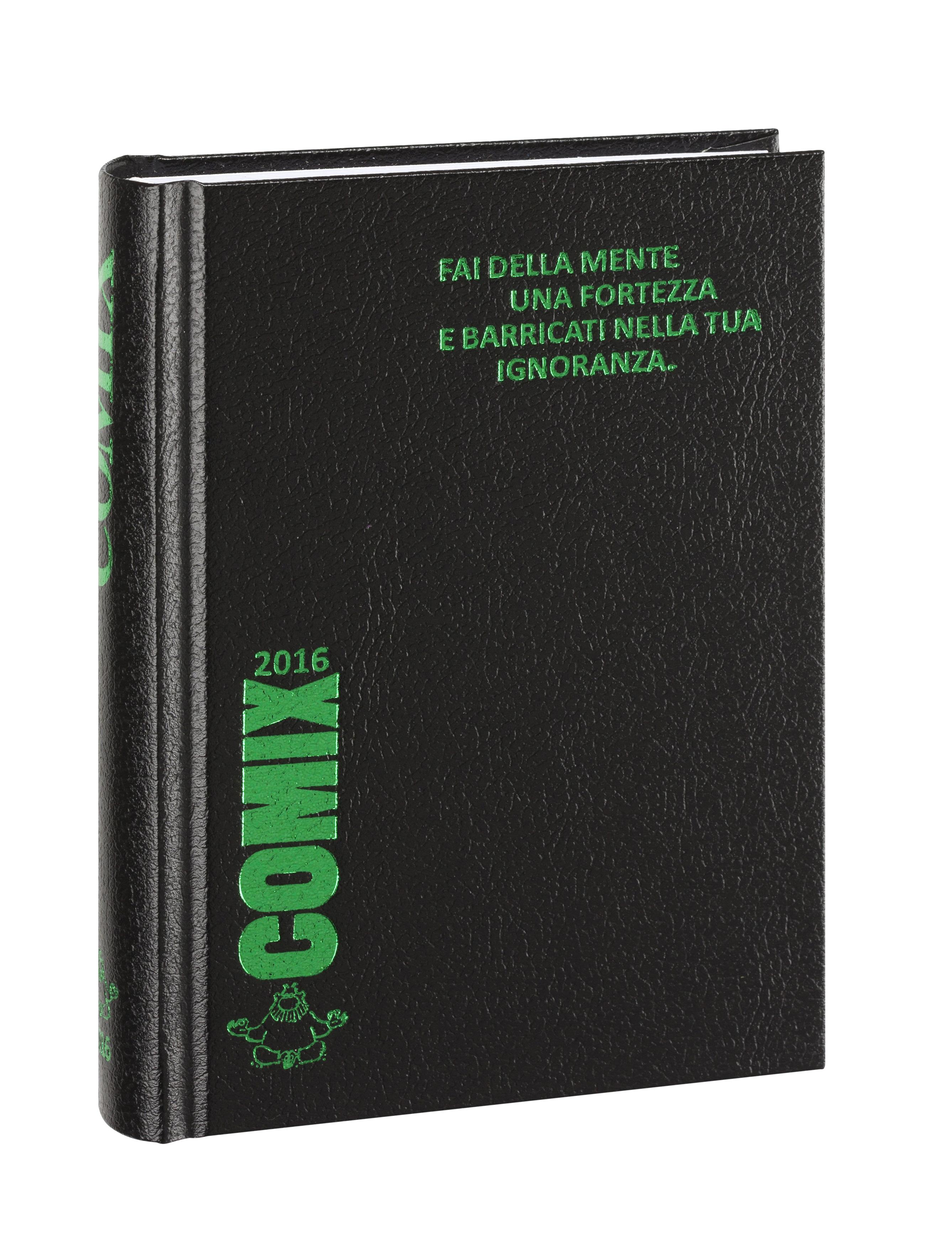 Comix nero con scritte verde